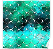 Mint & Turquoise Pattern Poster