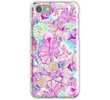 Psychedelic bright abstract girly floral pattern iPhone Case/Skin