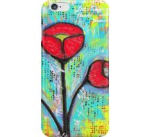 Mixed Media Poppies iPhone Case/Skin