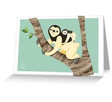 Sloth&baby  Greeting Card