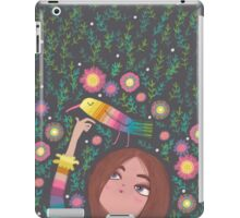 RAINBOW BIRD AND GIRL iPad Case/Skin