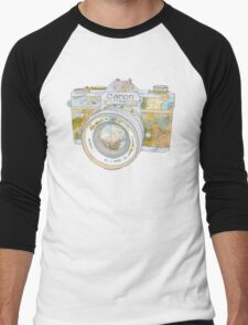 TRAVEL CAN0N Men's Baseball ¾ T-Shirt