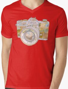 Travel Canon Mens V-Neck T-Shirt
