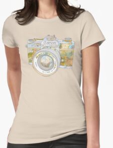 Travel Canon Womens Fitted T-Shirt