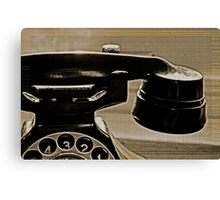 Old Phone in the Window Canvas Print