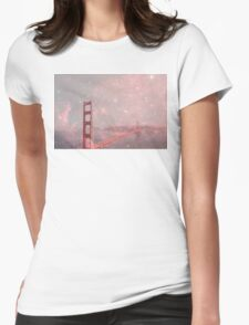 Stardust Covering San Francisco Womens Fitted T-Shirt
