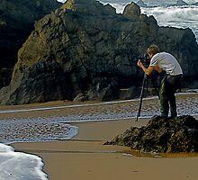 Photografer in Adraga beach by BaZZuKa