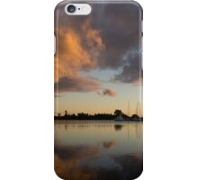Boats and Clouds Summer Sunset iPhone Case/Skin