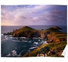 Rumps Point, North Cornwall, England Poster