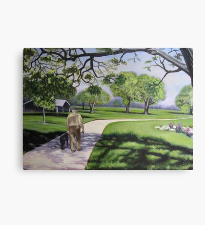 2 Seniors in the Park - Oil Canvas Print