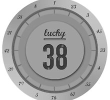 Lucky 38 - Platinum Chip by JHawkmoon
