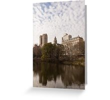Central Park Glamorous Apartment Buildings - Manhattan, Upper West Side Greeting Card