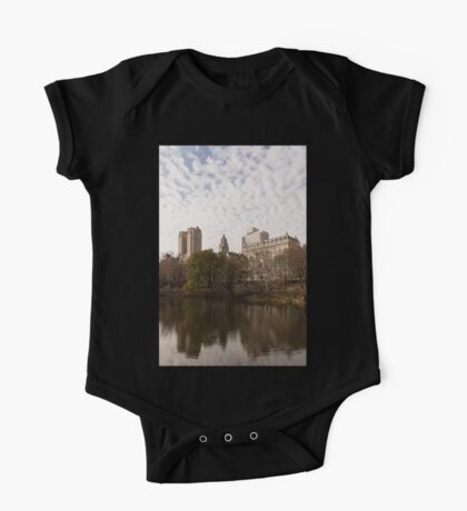 Central Park Glamorous Apartment Buildings - Manhattan, Upper West Side One Piece - Short Sleeve