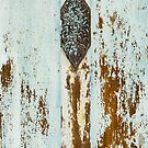 Weathered Turquoise Shutter Detail by visualspectrum