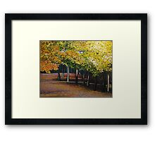 SOLD - Oil - Autumn Woods Framed Print