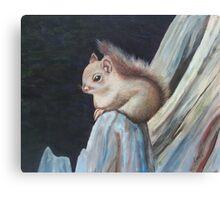 Oil - On de-Fence Canvas Print