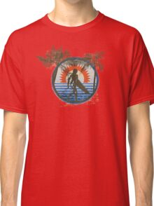 Life by the Beach - Surfing - Summer Sun and Palm Trees Classic T-Shirt