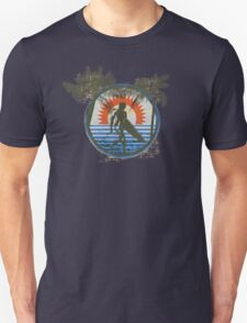 Life by the Beach - Surfing - Summer Sun and Palm Trees Unisex T-Shirt