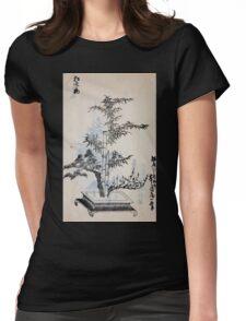 Yenshu ryu ikebana hiak bin no zu shiki konzatsu Flower arrangement in the Enshu style V2 1897 0056 Womens Fitted T-Shirt