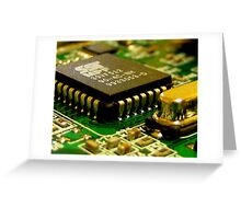 A Computer Chip Greeting Card