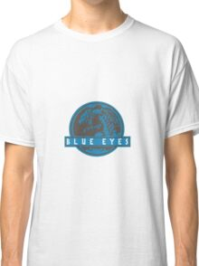Blue Eyes  White Jurassic Dragon  Classic T-Shirt