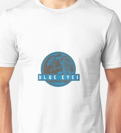 Blue Eyes  White Jurassic Dragon  Unisex T-Shirt