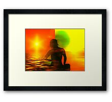 Yoga meditation Framed Print