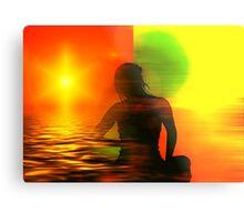 Yoga meditation Metal Print