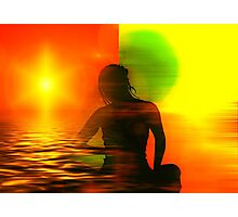 Yoga meditation Photographic Print