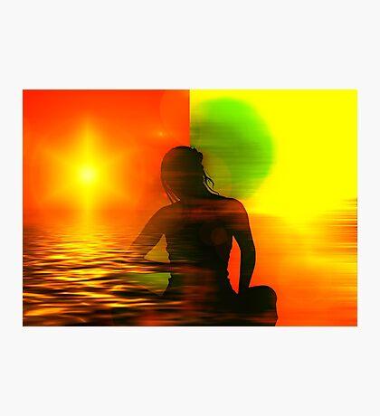 Yoga meditation Photographic Print