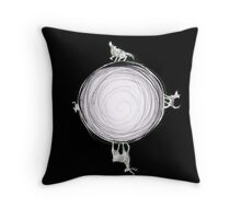 Inverted Marauders Moon Throw Pillow