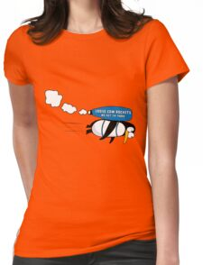 rocket penguin Womens Fitted T-Shirt