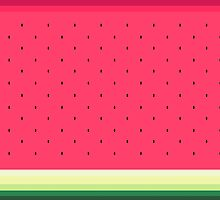 Watermelon // Graphic Fruit Pattern by hocapontas