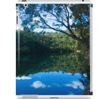 reflection of trees in the water  iPad Case/Skin