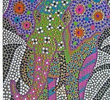 Polka Dot Ganesha by soulexpressions