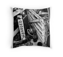 Charged & Waiting Throw Pillow
