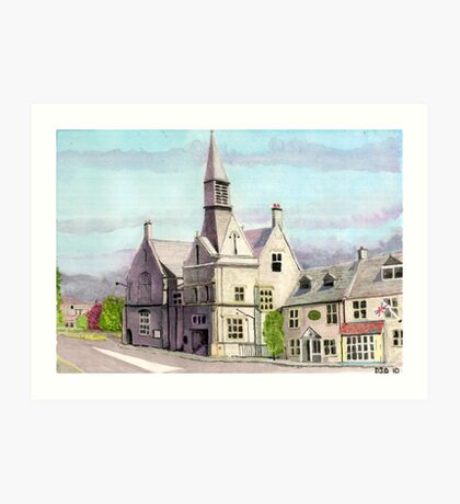 Stow on the Wold Town Hall Art Print