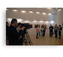 Opening My exhibition in Romania, Targoviste Canvas Print