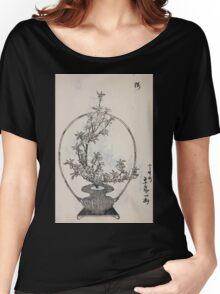 Yenshu ryu ikebana hiak bin no zu shiki konzatsu Flower arrangement in the Enshu style V1 1897 0046 Women's Relaxed Fit T-Shirt