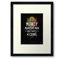A CRIME Framed Print