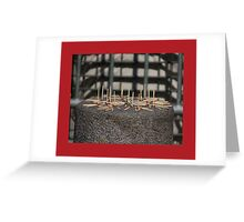 Matchstick red...or homeless art Greeting Card