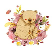 Bear with Honey-Pot Photographic Print