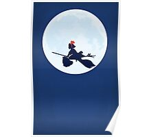 Kiki's Delivery Service Moon Poster