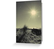 Vieux-Boucau : run to the beach Greeting Card