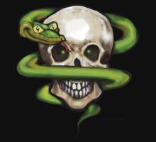 Serpent n Skull Pocket Tee by Kevin Middleton