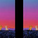 The Lion King - Simba and Nala in Savannah by studinano