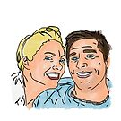 Paul and Catherine King Illustration by StevePaulMyers