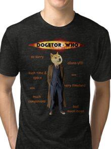 Dogetor Who Tri-blend T-Shirt