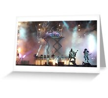 KISS live at Download 2015 Greeting Card