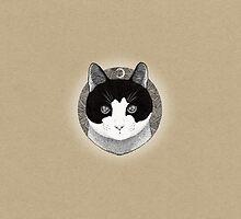 Cat ink illustration by hheyann